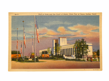 Load image into Gallery viewer, Hall of State and the Court of Honor, State Fair of Texas, Dallas Texas. Unused Linen Postcard Circa 1930-1944