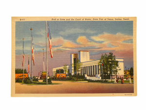Hall of State and the Court of Honor, State Fair of Texas, Dallas Texas. Unused Linen Postcard Circa 1930-1944