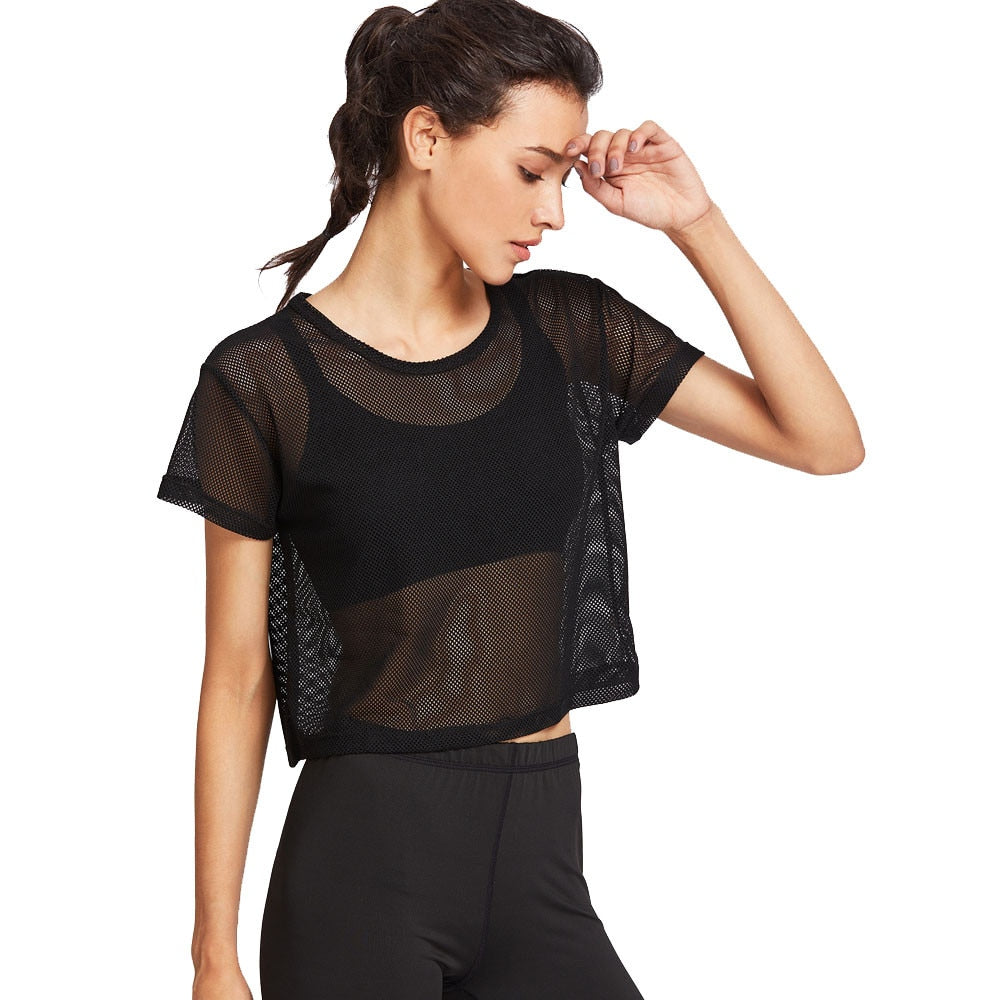 Black Transparent Summer Top