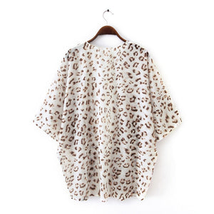 Leopard Cardigan Cover Up Top