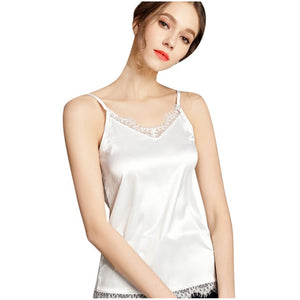 Lace Cami Sleeveless Top White