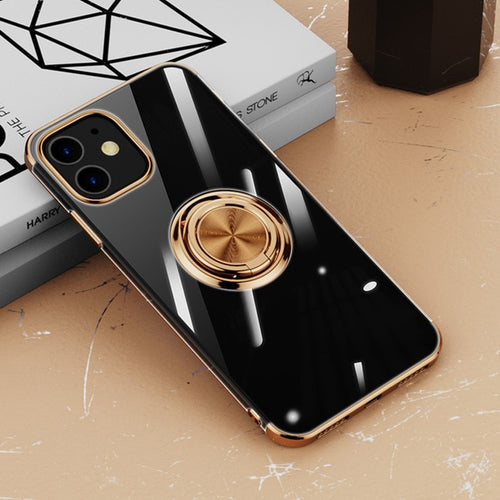 Transparent Ring Holder Stand Ultra-thin Soft Cover Case For iPhone 12 11 Pro Max Mini SE 2020 - Buy 2 Get 1 Free
