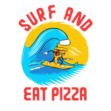 Load image into Gallery viewer, Surf and Eat Pizza - White