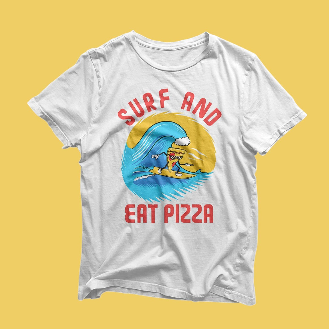 Surf and Eat Pizza - White