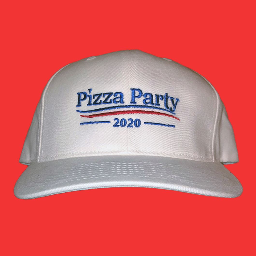 Pizza Party 2020 Hat - White