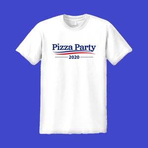 Pizza Party 2020 Tee - White
