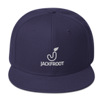 JACKFROOT OFFICIAL STACKED WHITE LOGO SNAPBACK HAT