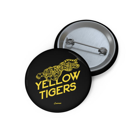 YELLOW TIGERS JACKFROOT BUTTON PIN