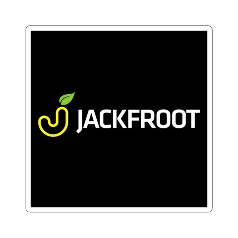 "JACKFROOT OFFICIAL LOGO 2"" SQUARE STICKER (BLACK)"