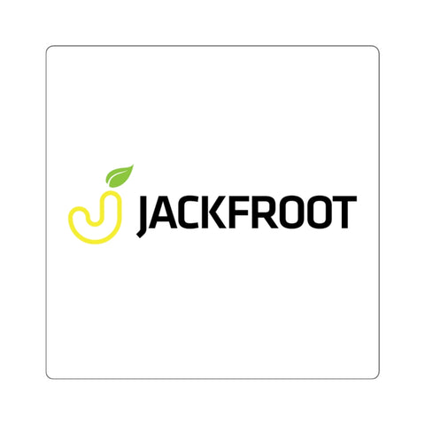 "JACKFROOT OFFICIAL LOGO 2"" SQUARE STICKER (WHITE)"