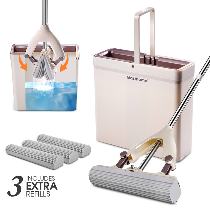 Masthome Sponge mop with Bucket set - Masthome®