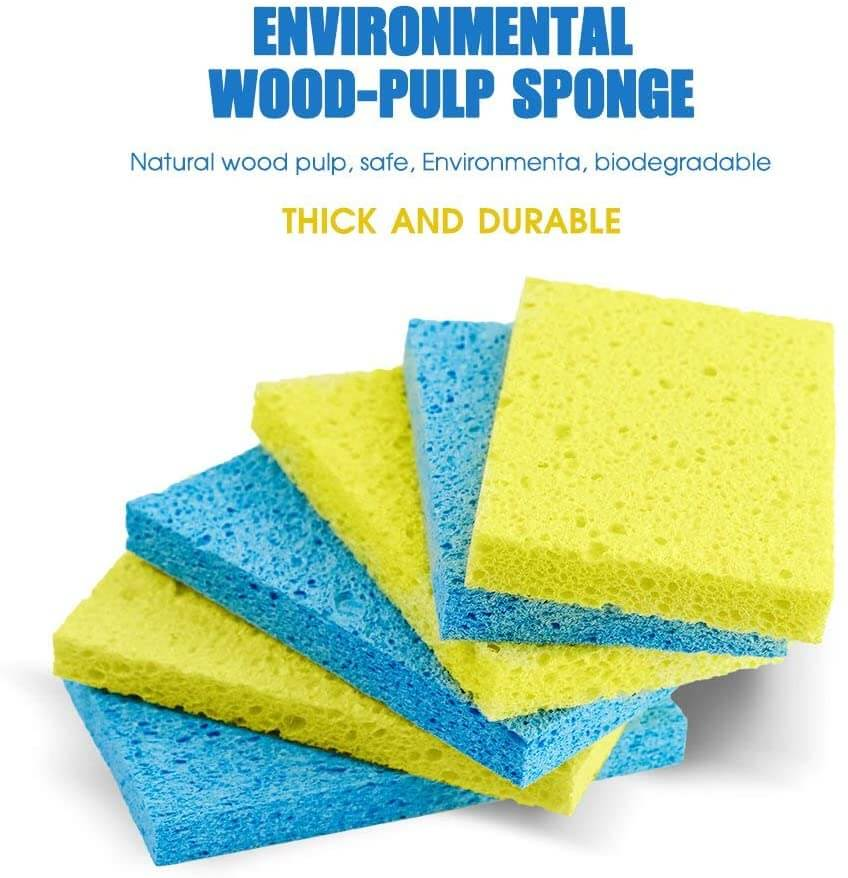 32 Pack Cellulose Cleaning Scrub Sponges