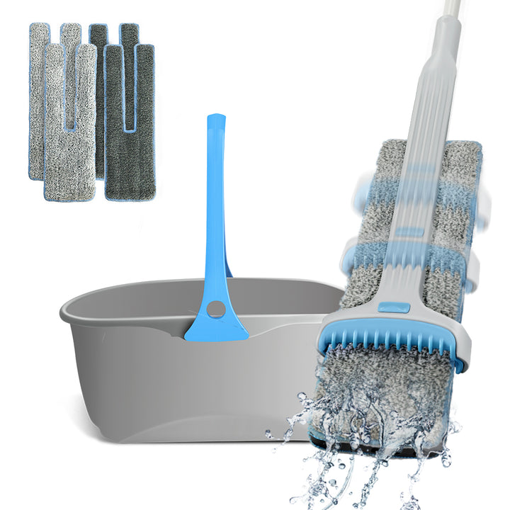 Masthome Double Sided Squeegee Flat Mop with Bucket - Masthome®