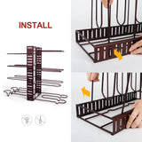 Masthome Pot Rack with 5PCS Cleaning Cloths Kitchen Adjustable Pan Organizer Rack - Masthome®