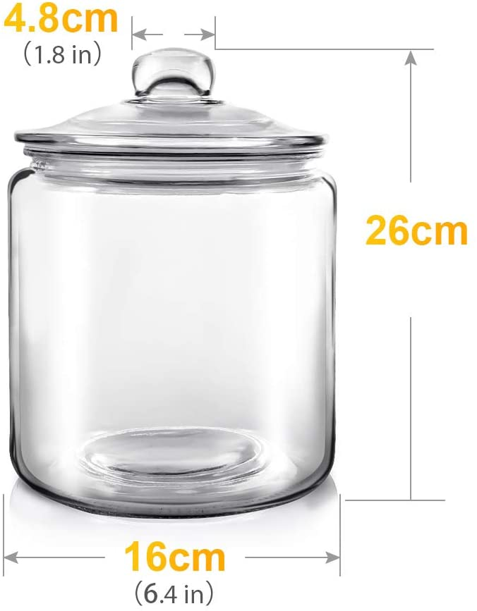 Masthome Glass Jars with Lid 3.9L Large Storage - Masthome®