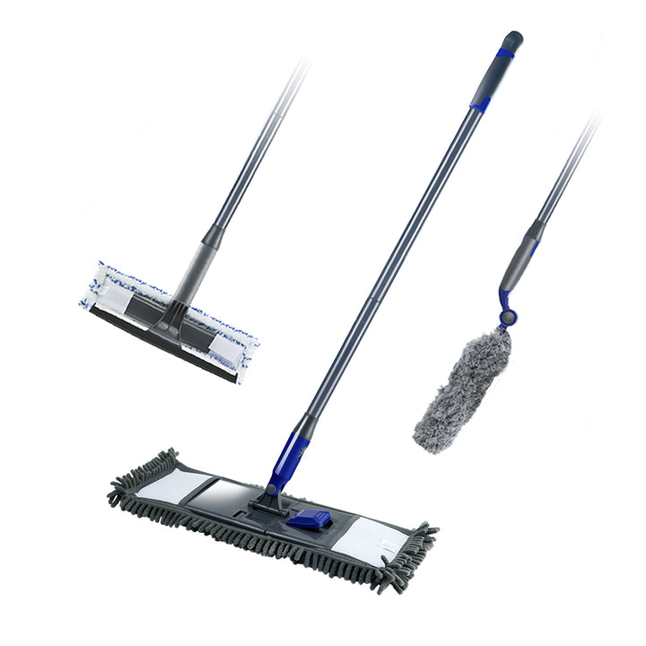 Masthome Microfibre Floor Mop Cleaning Set 2-in-1 Window Squeegee Adjustable Cleaning Duster - Masthome®