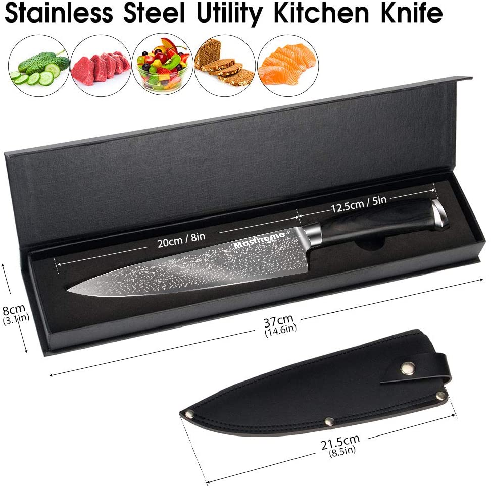 Chef Knife 8 inch Stainless Steel