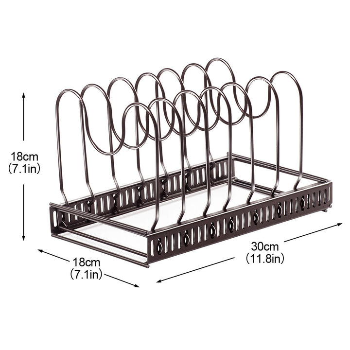 Expandable Pan Pot Organizer Rack-Masthome 1