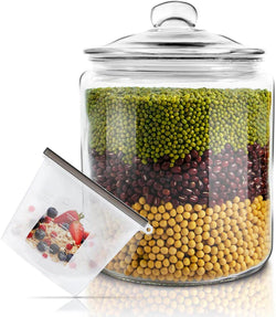 Glass Jar with Fresh Sealed Lid 1 Gallon