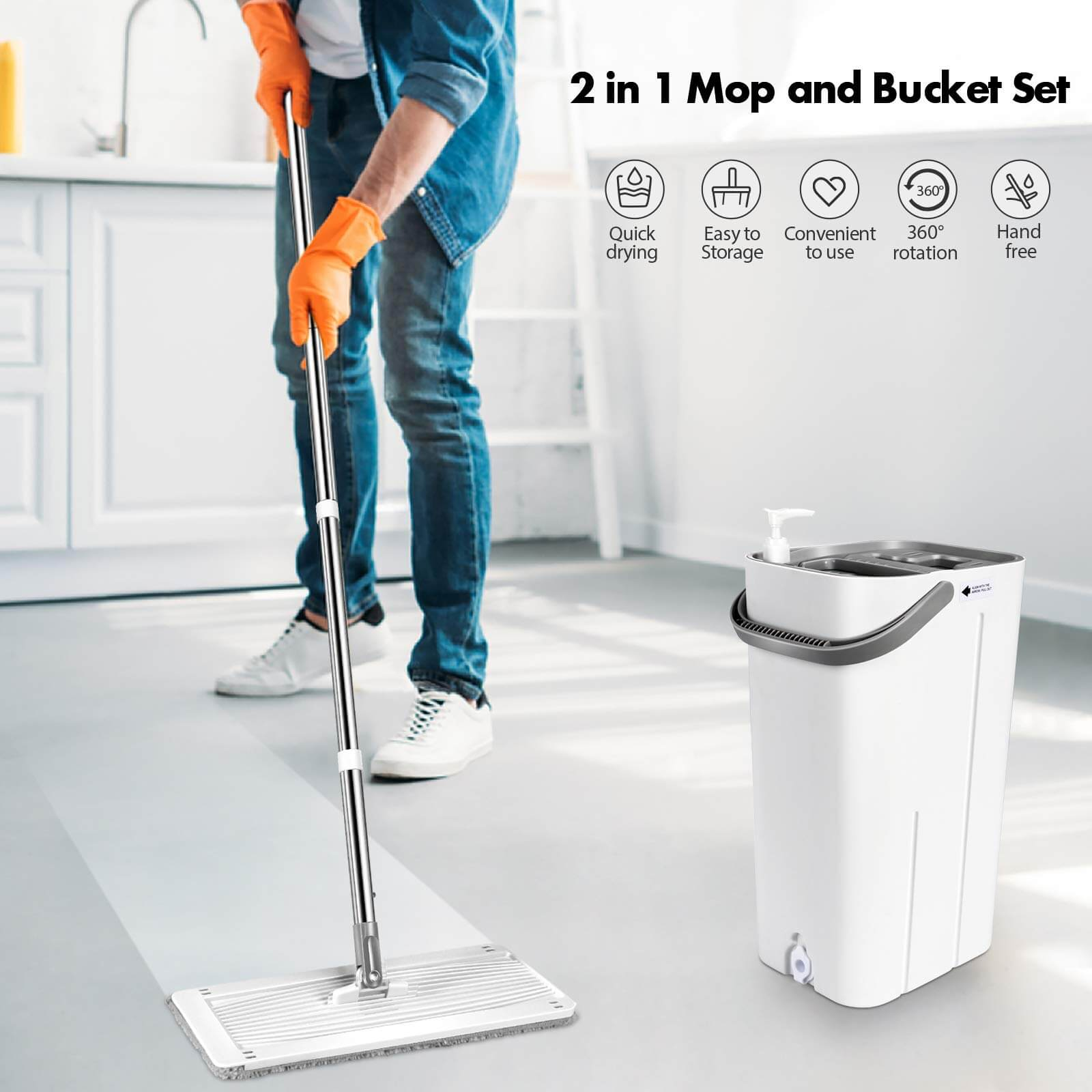 MASTHOME® Mop and Bucket System