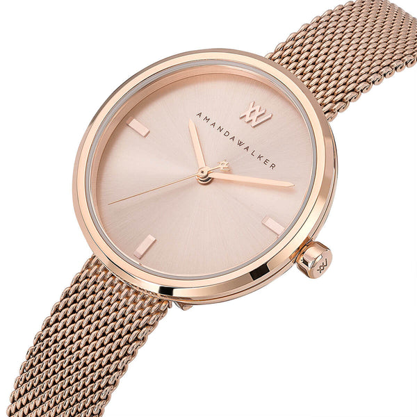 Rose / 31mm - Rose Gold Watch | Amanda Walker Time | Womens Watch | Free UK Delivery