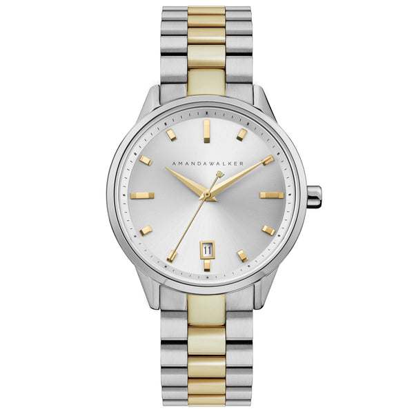Silver & Gold Ladies Watch Watch - Buy from Amanda Walker Time - UK British Design
