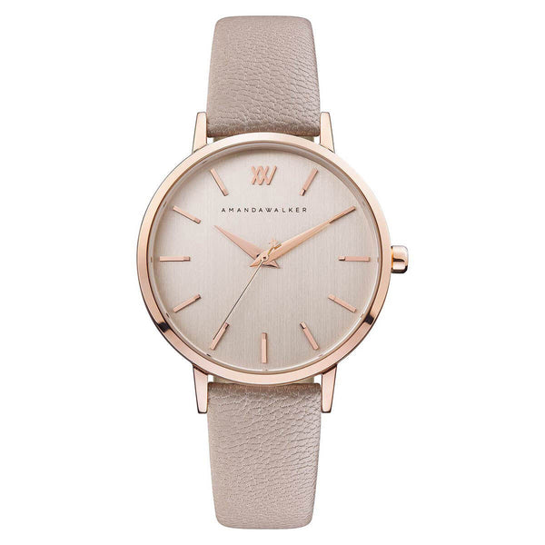 Kate / 36mm - Rose Gold & Nude Watch | Amanda Walker Time | Womens Watch | Free UK Delivery