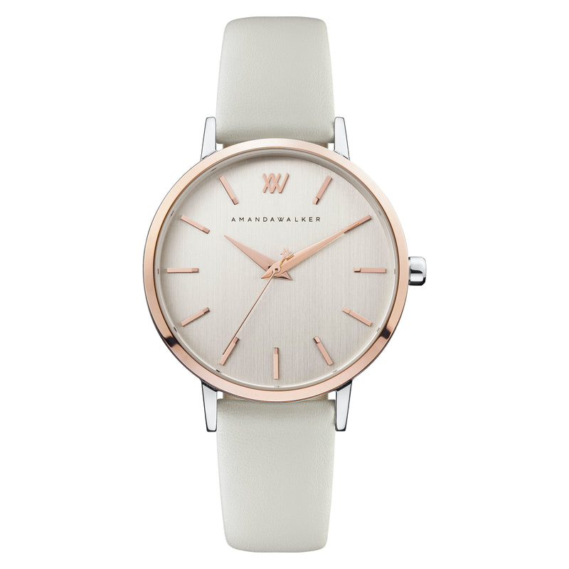 Kate / 36mm - Rose Gold & Chalk Watch | Amanda Walker Time | Womens Watch | Free UK Delivery