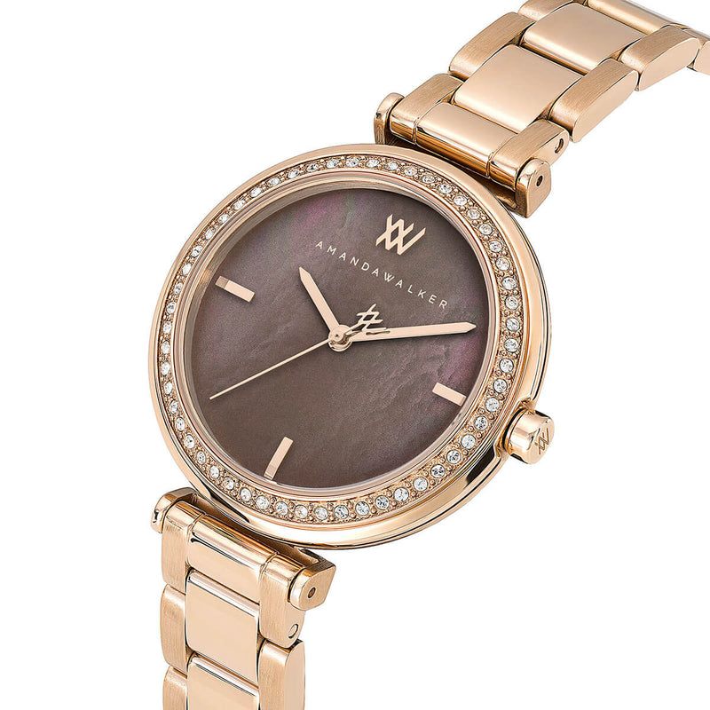 Grace / 32mm  - Rose Gold & Mother of Pearl Watch | Amanda Walker Time