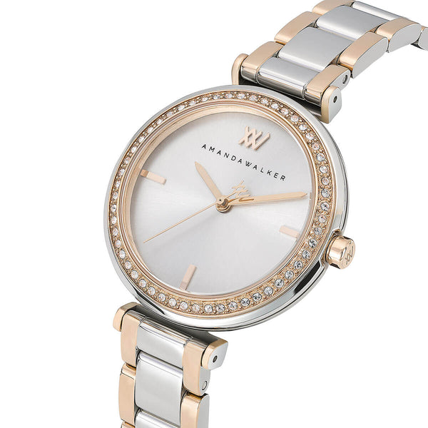 Grace / 32mm  - Silver & Rose Gold Watch | Amanda Walker Time | Womens Watch | Free UK Delivery