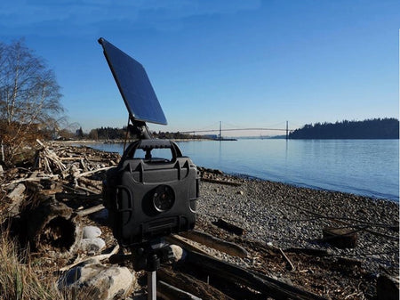 CamDo DryX and SolarX timelapse solution by river