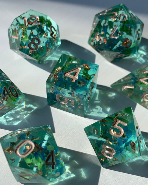 Forget-Me-Not 7-Piece Dice Set