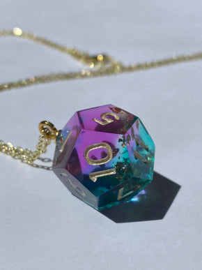 Gilded Fluorite D12 Necklace