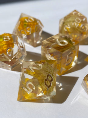 Maple Sapling 7-Piece Dice Set
