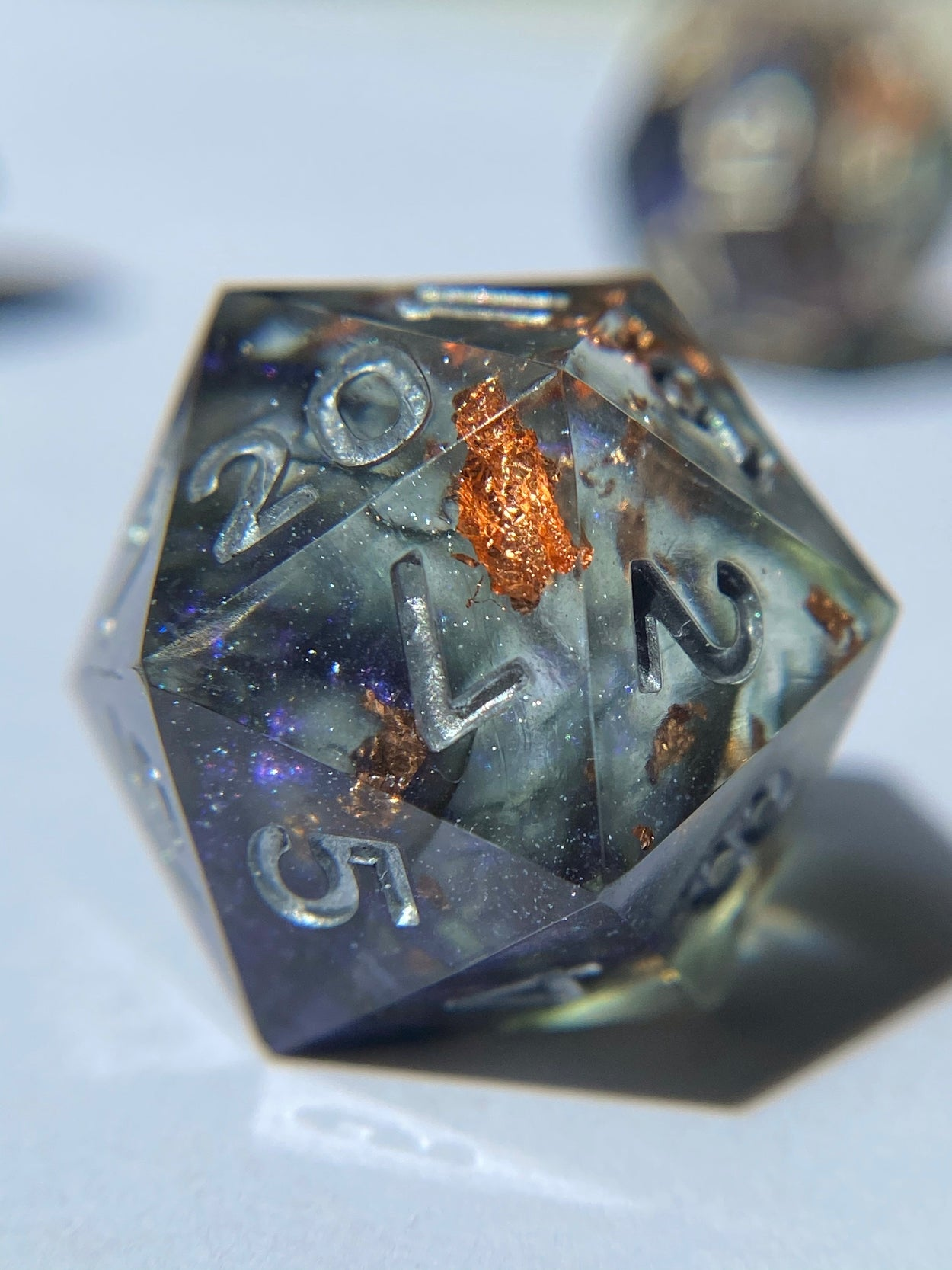 Witching Hour D20 - Silver Ink