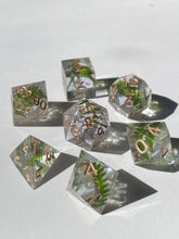 Load image into Gallery viewer, Forest Gems - periwinkle 7-Piece Dice Set
