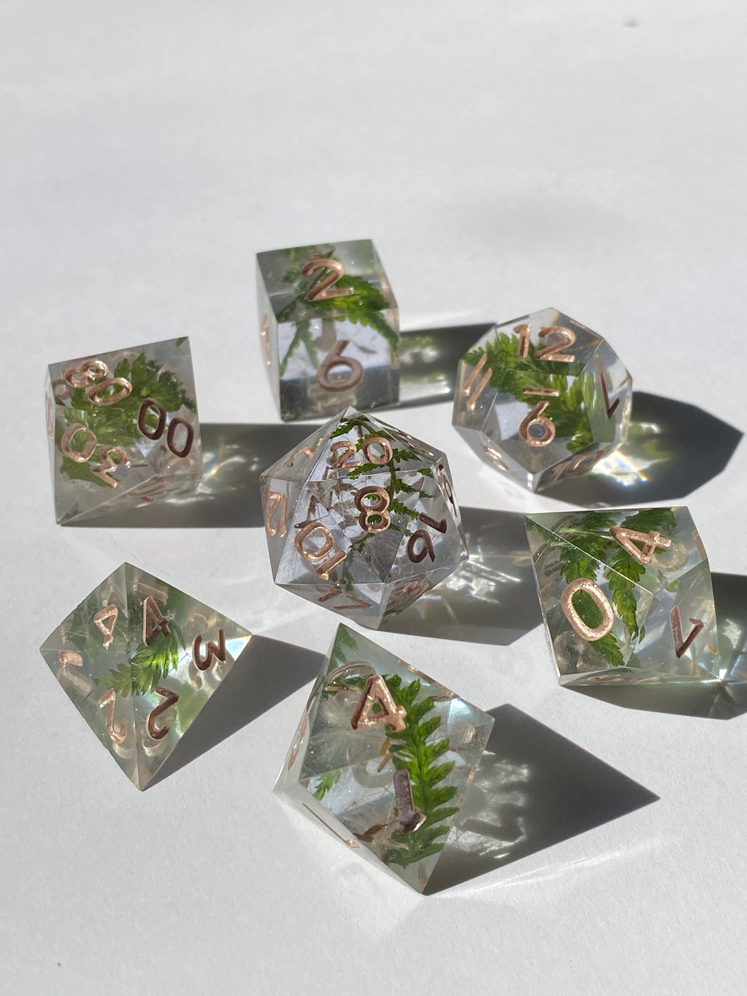 Forest Gems - periwinkle 7-Piece Dice Set