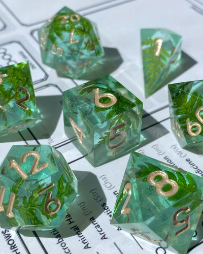 Forest Gems 7-Piece Dice Set