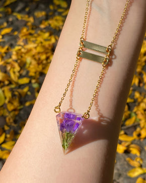 Golden Hour D4 ladder Necklace