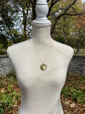 Baby Fern D20 Pendant Necklace