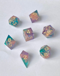 Skies of Elysium 7-Piece Dice Set