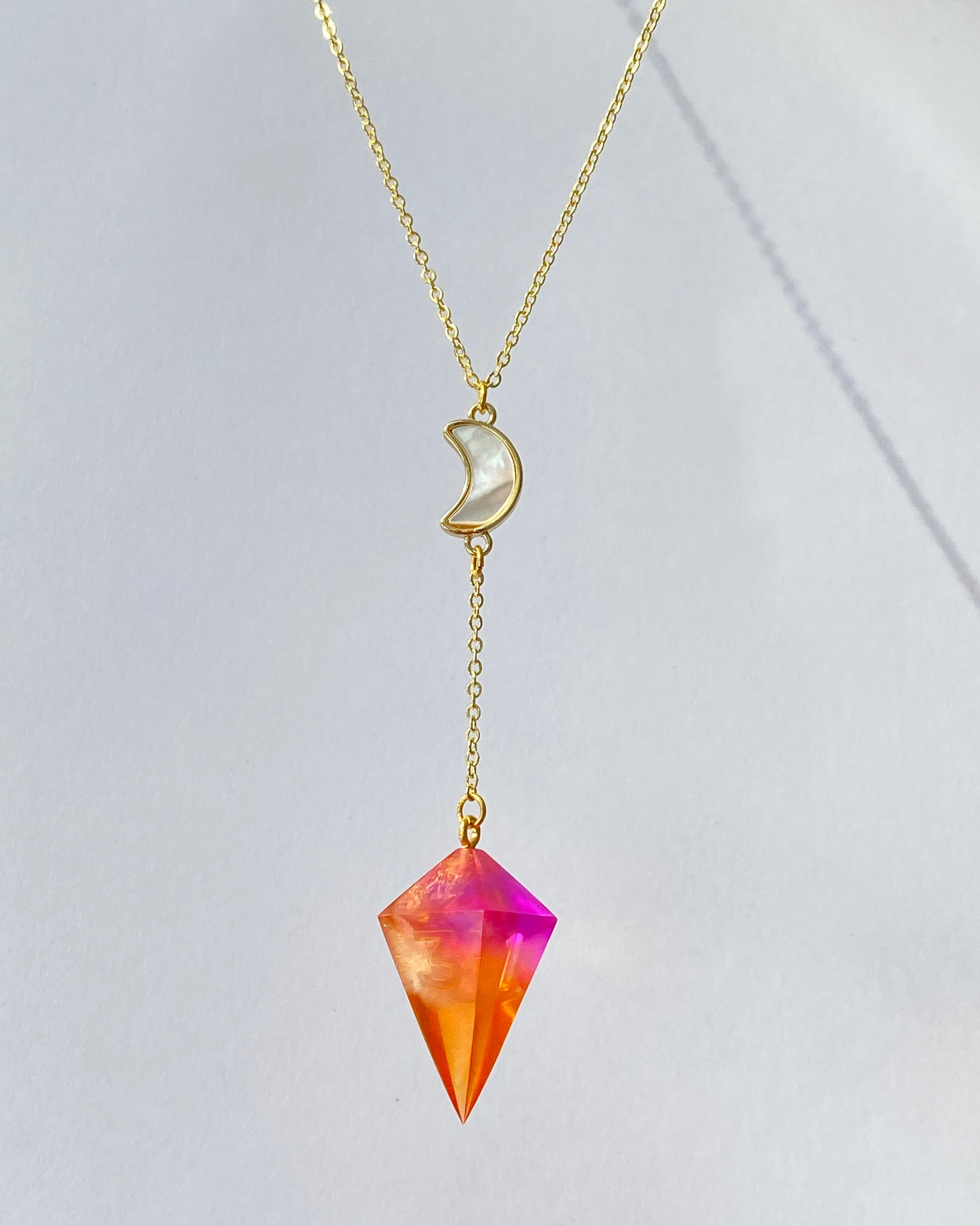 Painted Sky Lunar Y-Necklace - Gold