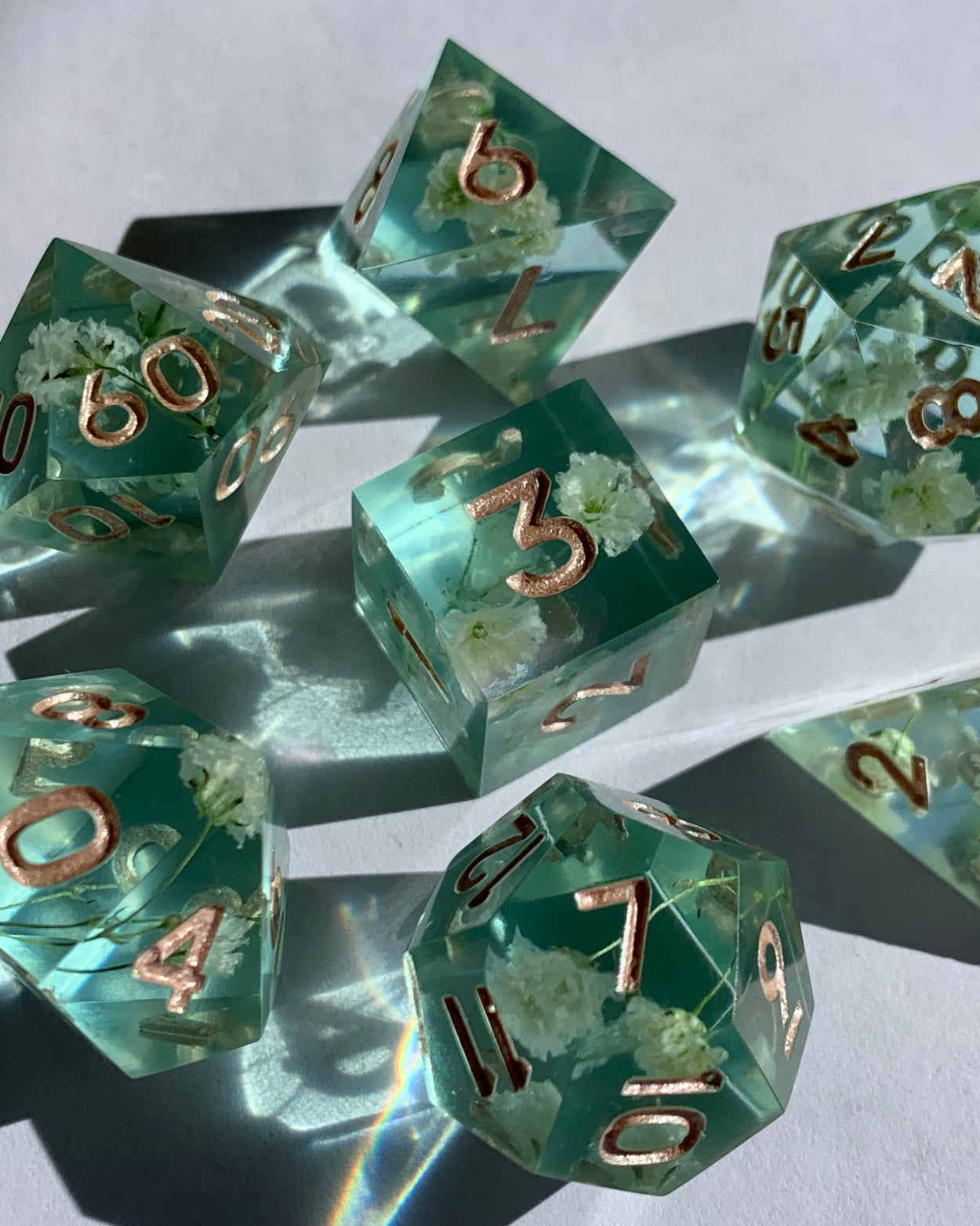 Baby's Breath B-Grade 7-Piece Dice Set