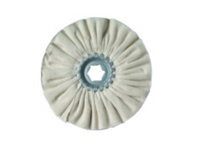Centerless cotton buffing wheel