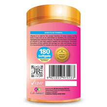 Load image into Gallery viewer, JR Life Sciences Natural Source Vitamin E400 (180 Softgels)