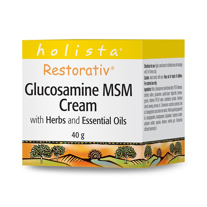 Holista Restorativ Glucosamine & MSM Cream with Herbs and Essential Oils (40g)