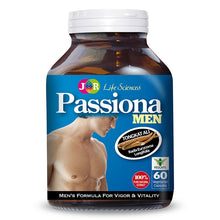 Load image into Gallery viewer, JR Life Sciences Passiona Men's Formula For Vigor & Vitality (60 Veg. Caps)