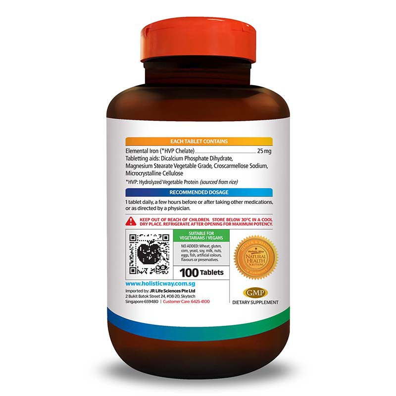 Holistic Way Iron Tablets (100 Tablets)
