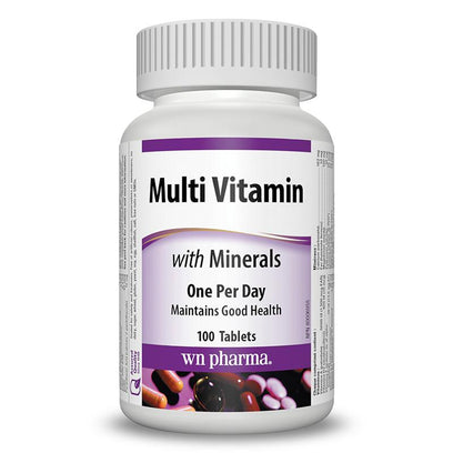 Webber Naturals Multi Vitamins With Minerals (100 Tablets)