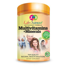 Load image into Gallery viewer, JR Life Sciences Multivitamins & Minerals (120 Vegetarian Capsules)